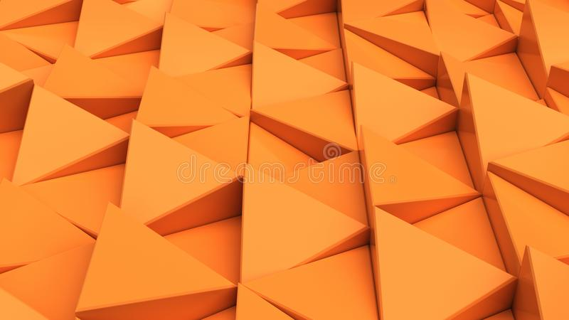 Download Modell Av Orange Triangelprismor Stock Illustrationer - Illustration av perspektiv, illustration: 106832846