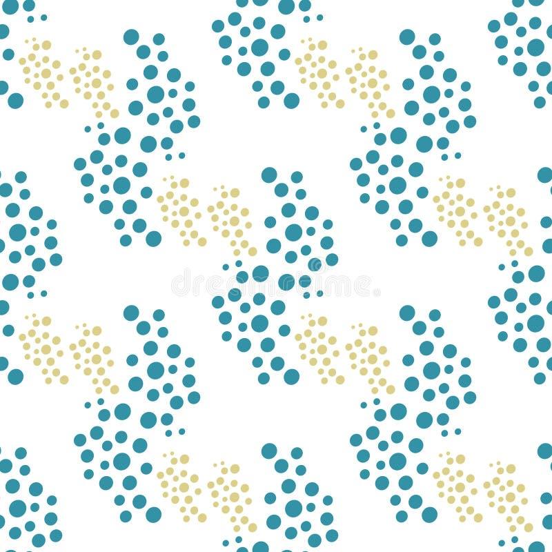 Modell av prickar stock illustrationer
