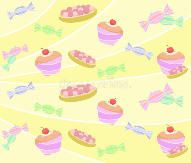 Modell av sötsaken och muffin royaltyfri fotografi