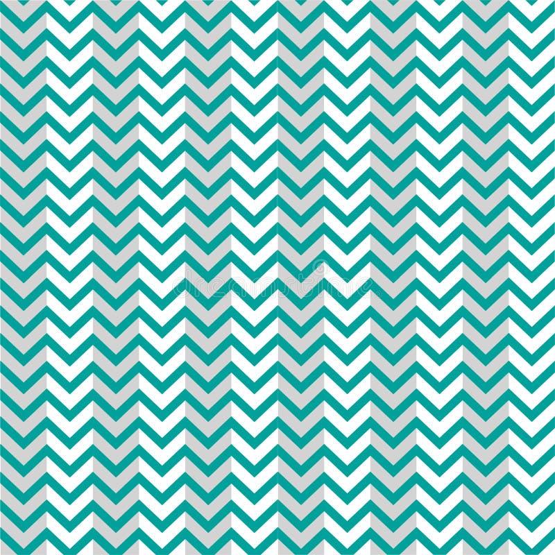 Modell blåa Grey Background Zigzag stock illustrationer