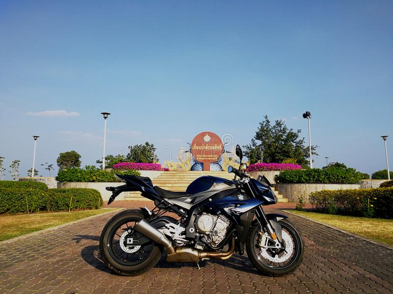 Modell BMWs S1000R 2015 stockbild