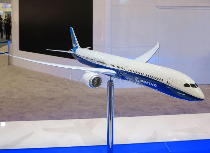 Modell Of BOEING 787-10 royaltyfri foto