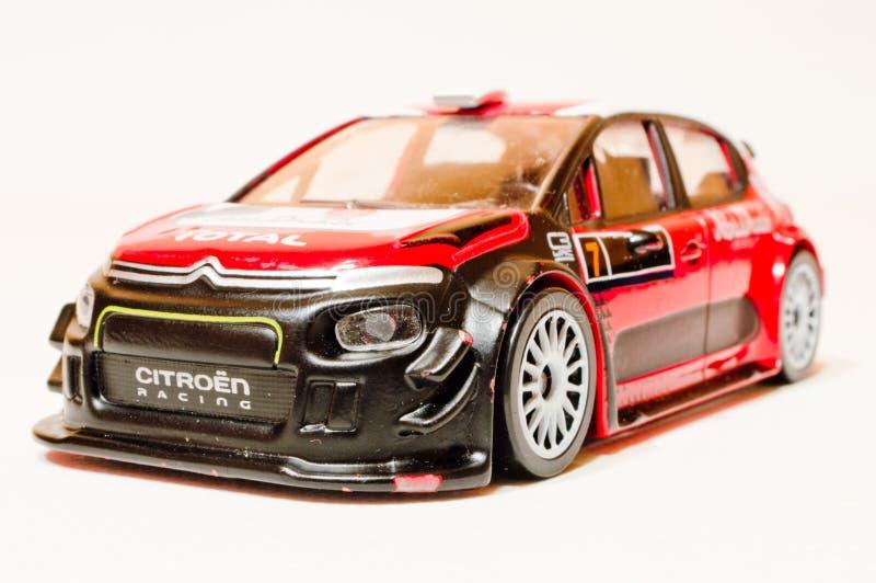Modell Citroen C3 WRC 1/43 stockfotos