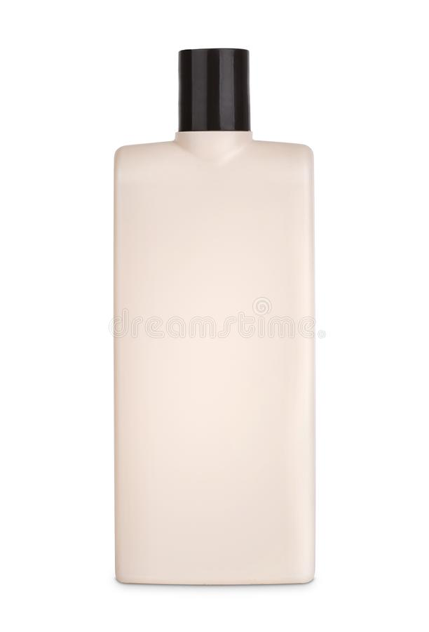 Modell 3d der braunen Plastikflasche lizenzfreies stockbild