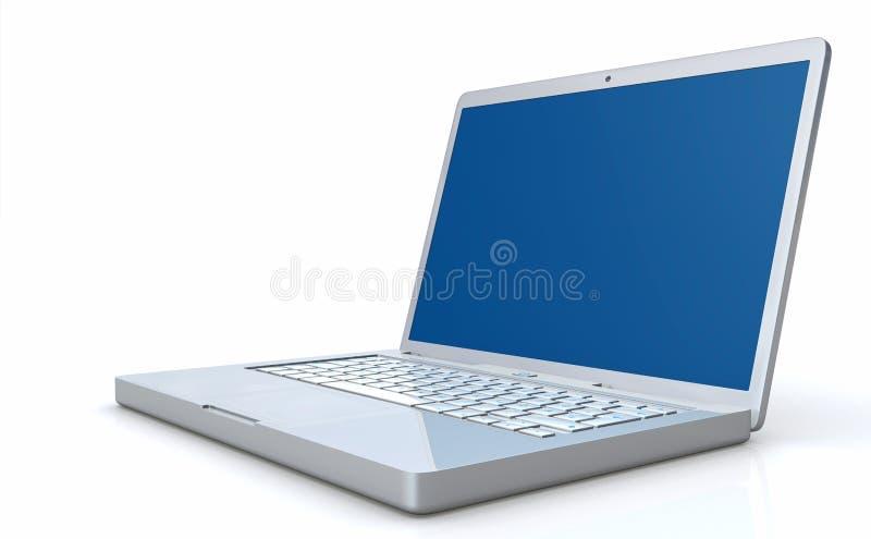 Modell 3D der Laptop-Computers stock abbildung