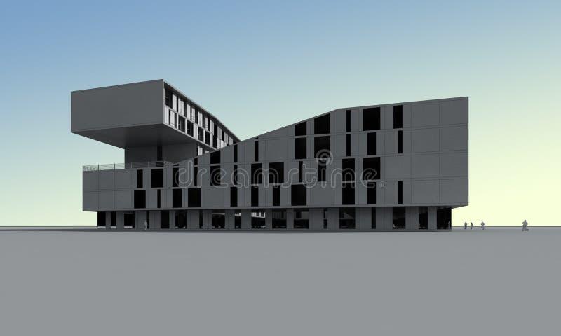 Modell 3D des Gebäudes vektor abbildung