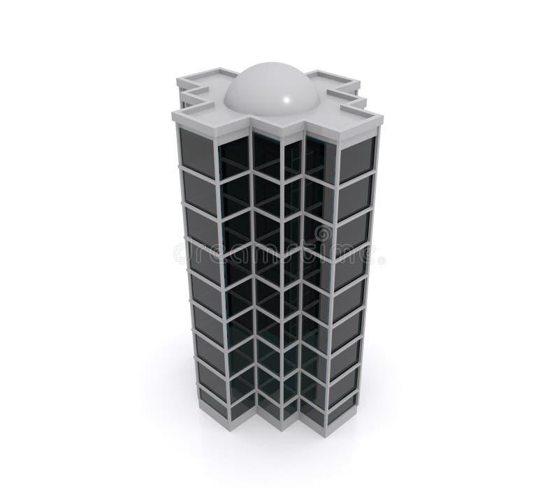 Modell 3D des Highrisegebäudes stock abbildung