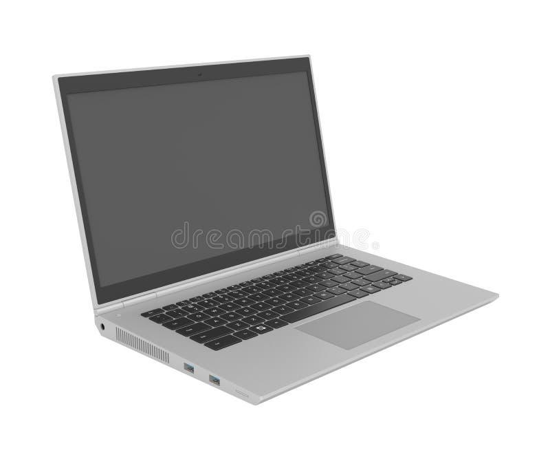 Modell 3D des Laptops stock abbildung