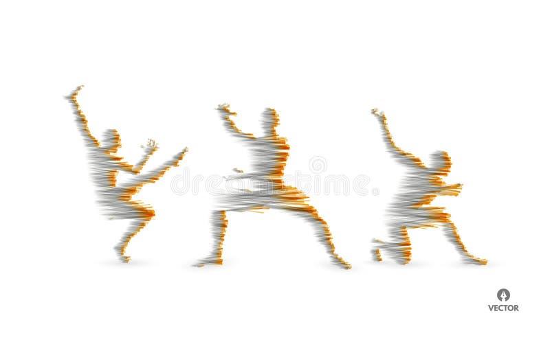 Modell 3D des Mannes Sportsymbol Vektorbild, Abbildung Gymnastik-T?tigkeiten f?r Ikonen-Gesundheit und Eignungs-Gemeinschaft Auch lizenzfreie abbildung
