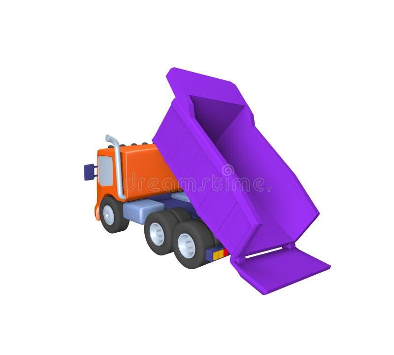 Modell 3D des Spielzeuglastwagens, Illustration auf einem weißen Hintergrund vektor abbildung