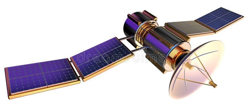 Modell 3D eines künstlichen Satelliten der Erde vektor abbildung