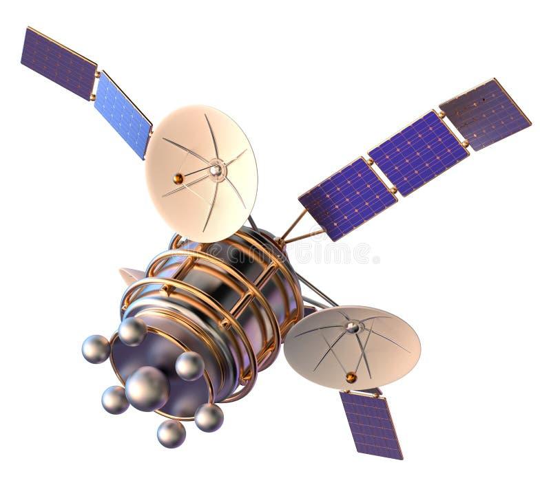 Modell 3D eines künstlichen Satelliten der Erde stockfotos