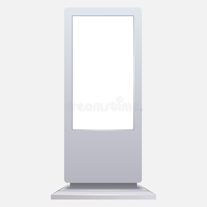 Modell der Werbungsdigitalen beschilderung lokalisiert auf Weiß lizenzfreie abbildung
