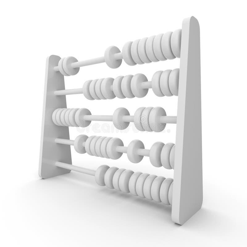 Modell des Abakusses 3D lizenzfreie abbildung