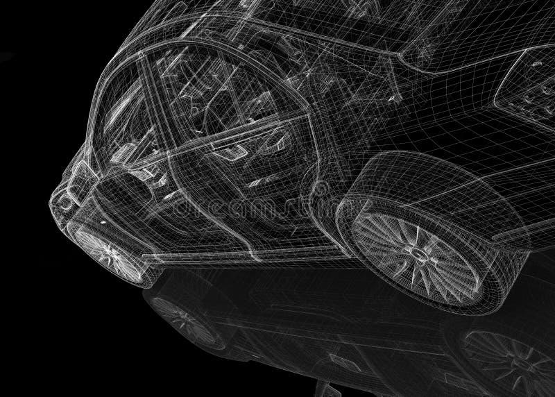 Modell des Autos 3D vektor abbildung