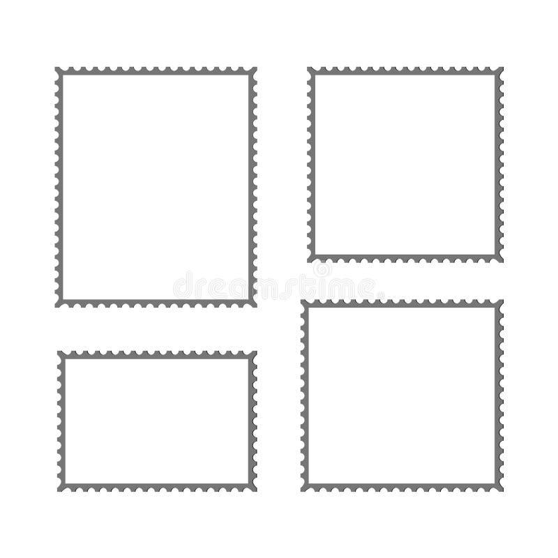 Modell des Briefmarke-Vektorfreien raumes stock abbildung
