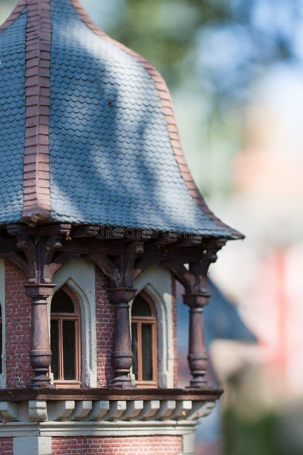 Modell des kleinen Schlosses stockfoto