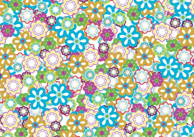 modell för 5 blomma vektor illustrationer