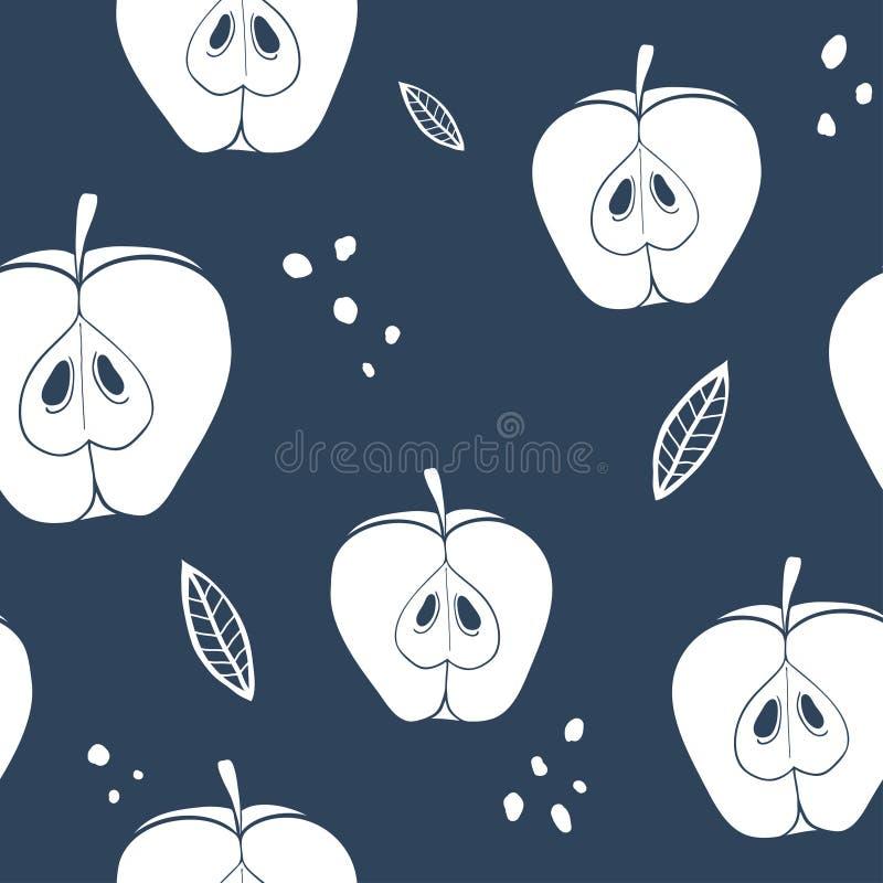 Modell för abstrakt äpple för vektor sömlös stock illustrationer