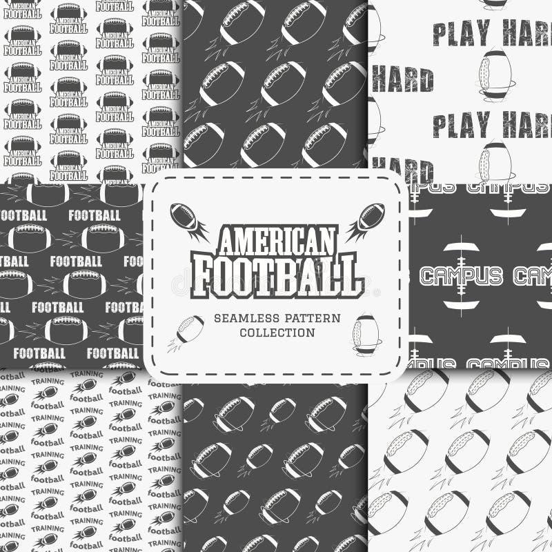 Modell för amerikanskt fotbollslag för högskola sömlös royaltyfri illustrationer