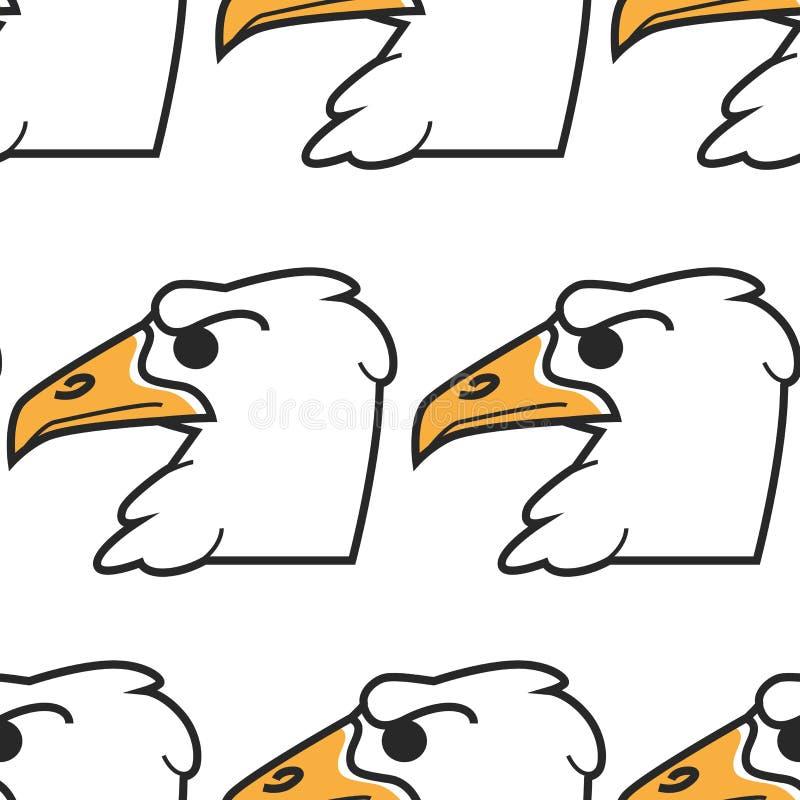 Modell för amerikanskt symbol för hök- eller örnfågel sömlös royaltyfri illustrationer
