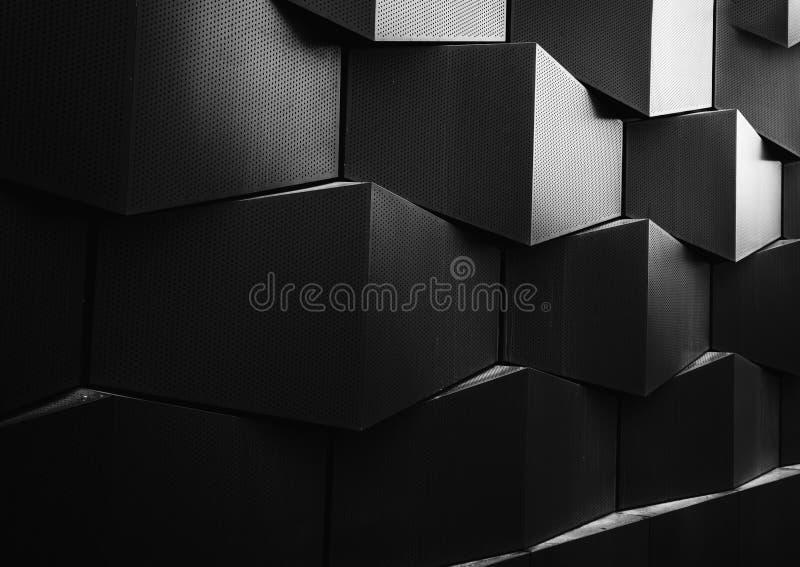Modell för arkitekturdetaljvägg arkivfoto