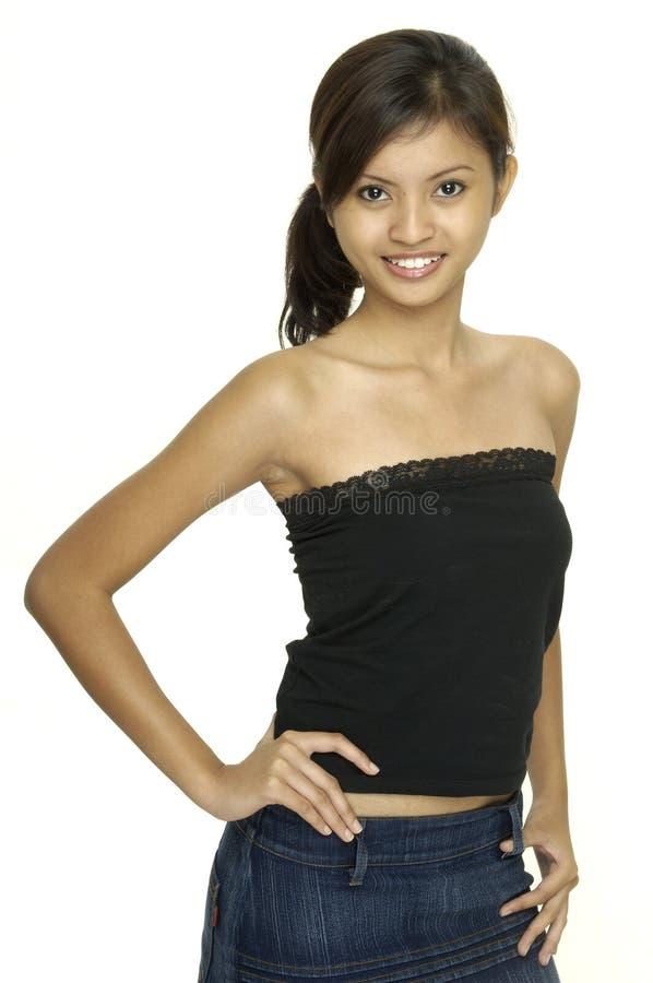 modell för asiat 7 royaltyfri foto