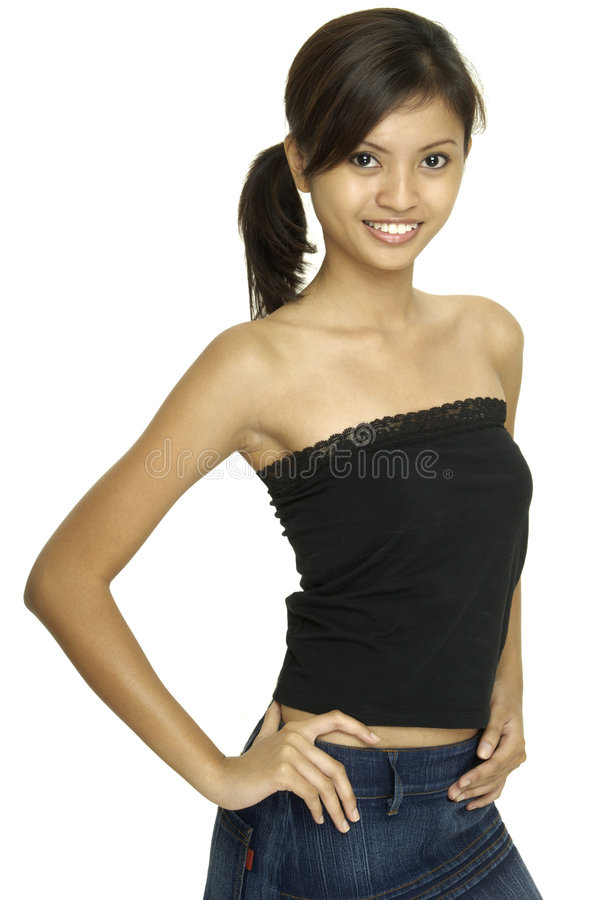 modell för asiat 9 royaltyfria foton
