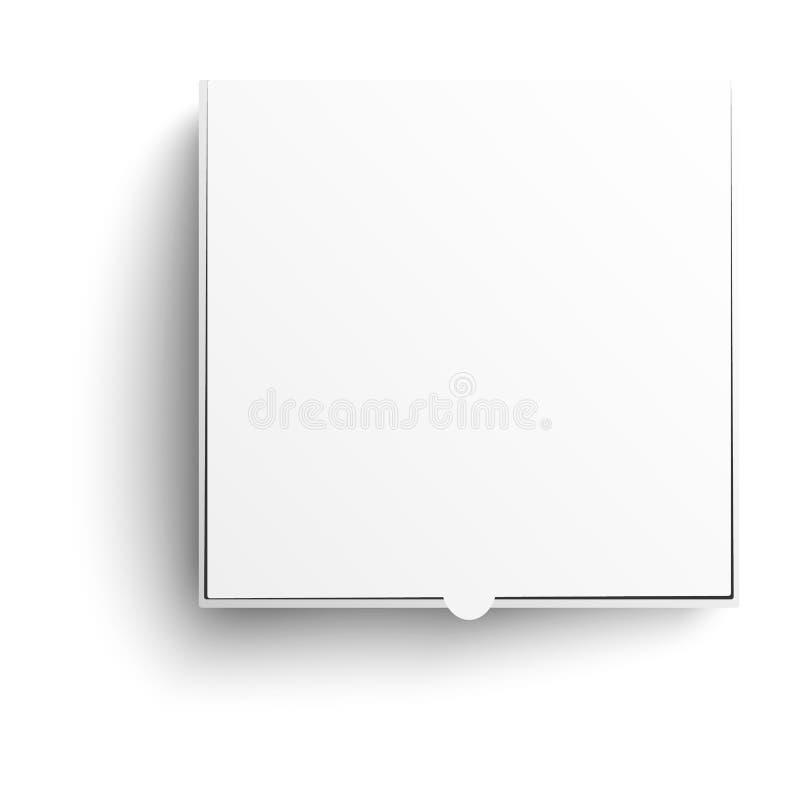 Modell för ask för vektorpizzapacke isolerad vit vektor illustrationer