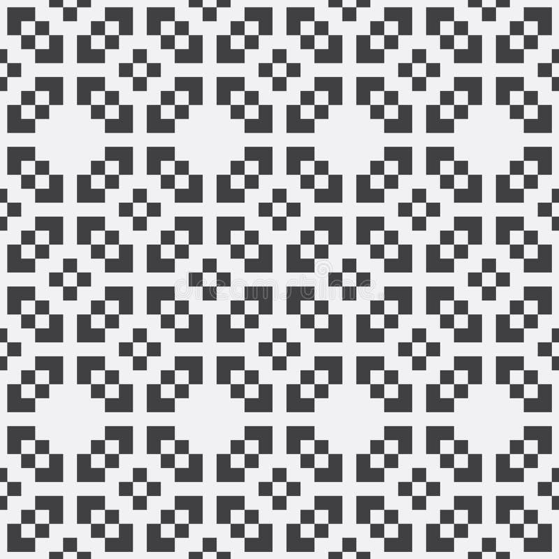 Modell för bakgrund för garnering för PIXEL för geometrisk design för vektor sömlös stock illustrationer