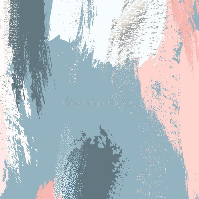 Modell för bakgrunder för guld- folie för vektor Blänker violett guld för modern upprepning textur Enkel modell för grungeborstes vektor illustrationer