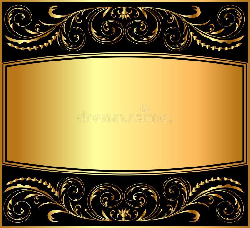 modell för bakgrundsguldillustration royaltyfri illustrationer