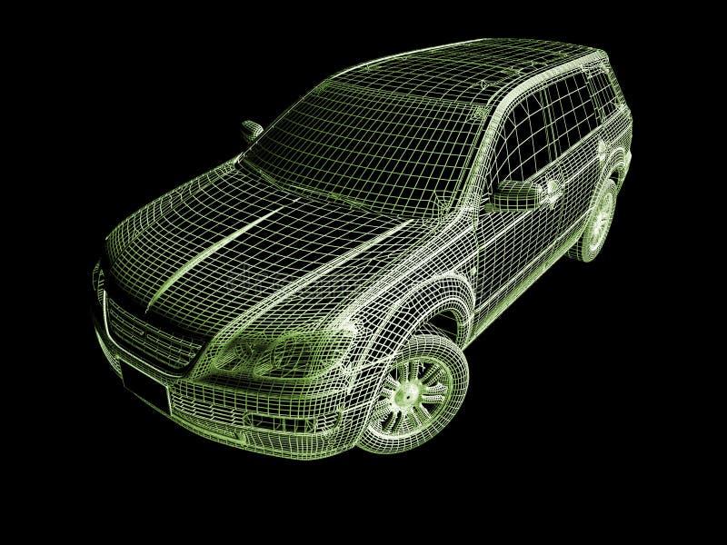 modell för bil 3d royaltyfri illustrationer