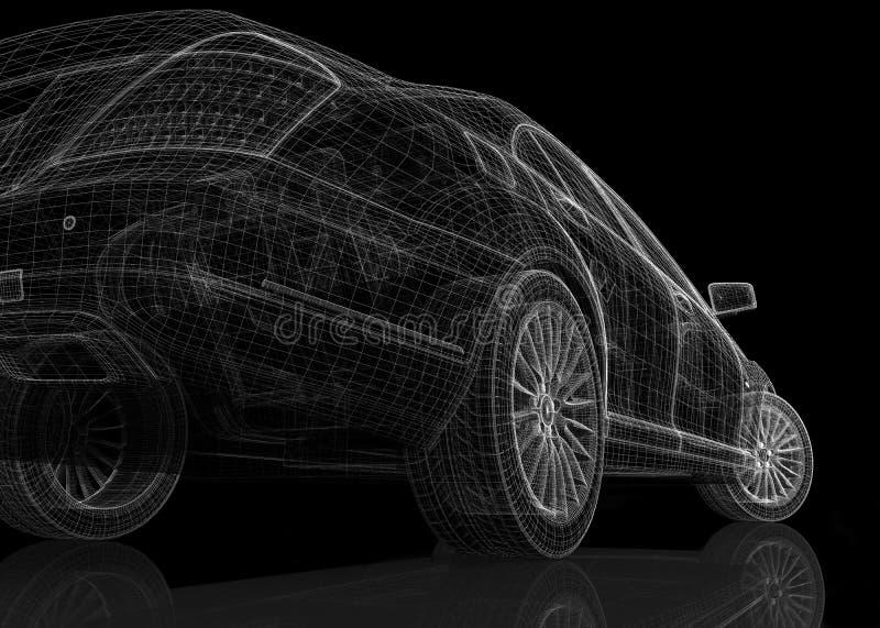 Modell för bil 3D stock illustrationer