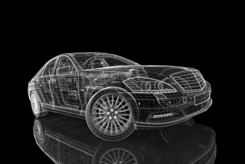 Modell för bil 3D vektor illustrationer