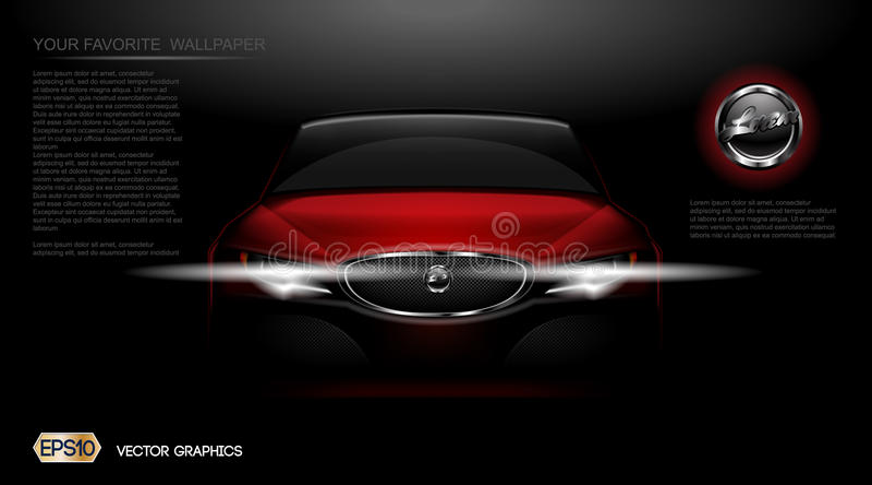 Modell för bil för sport för Digital vektor röd modern royaltyfri illustrationer