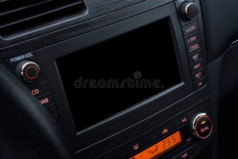 Modell för bilmultimediasystem royaltyfri foto