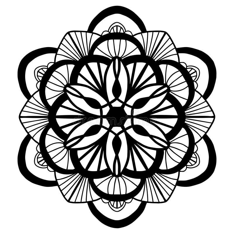 Modell för blommor för vektor för klotter för färgläggningbok vektor illustrationer