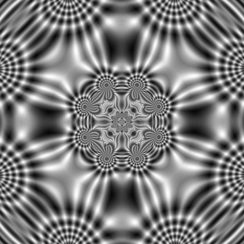 Modell för elektriskt fält med abstrakta krabba former vektor illustrationer