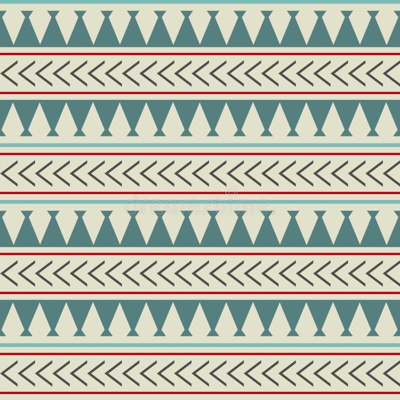 Modell för etnisk boho för vektor sömlös i maori stil Geometrisk gräns med dekorativa etniska beståndsdelar scandinavian royaltyfri illustrationer