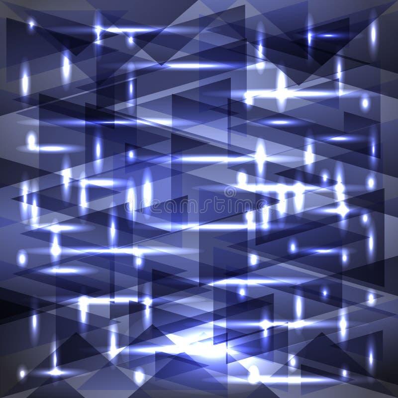 Modell för färg för våg för skinande hav för vektor läskig av skärvor och bandet royaltyfri illustrationer
