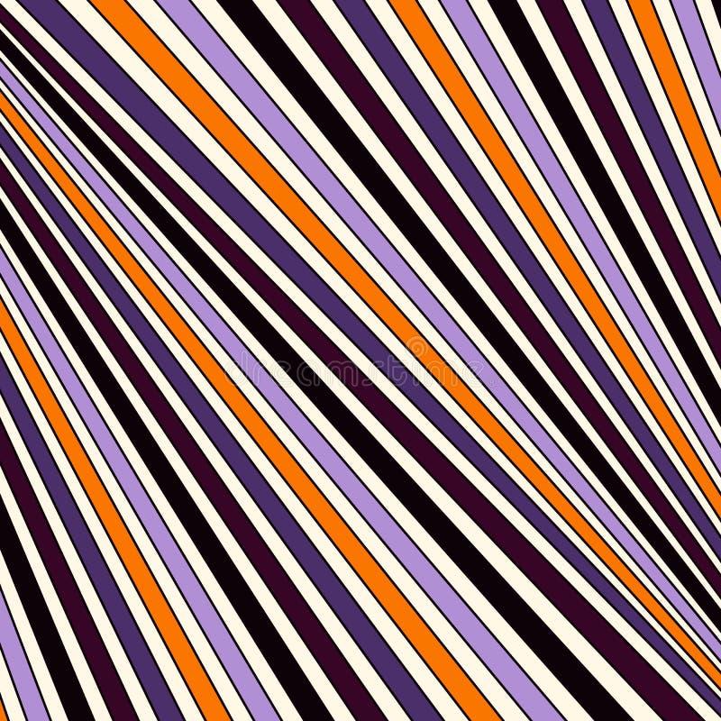 Modell för färger för allhelgonaafton traditionell gjord randig diagonal fodrad abstrakt bakgrund Geometrisk yttersidatextur för  stock illustrationer