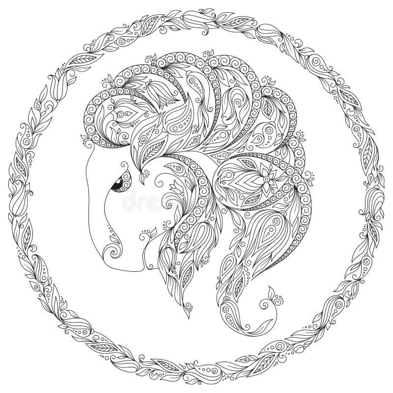 Modell för färgläggningbok Fantasidjur vektor illustrationer