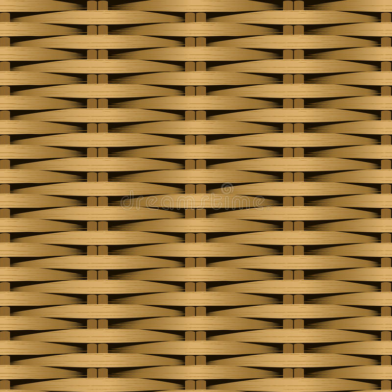 Modell för fiber för rotting plan vävd sömlös vektor illustrationer