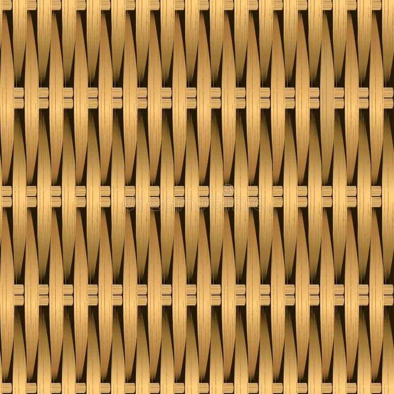 Modell för fiber för rotting vide- vävd sömlös stock illustrationer