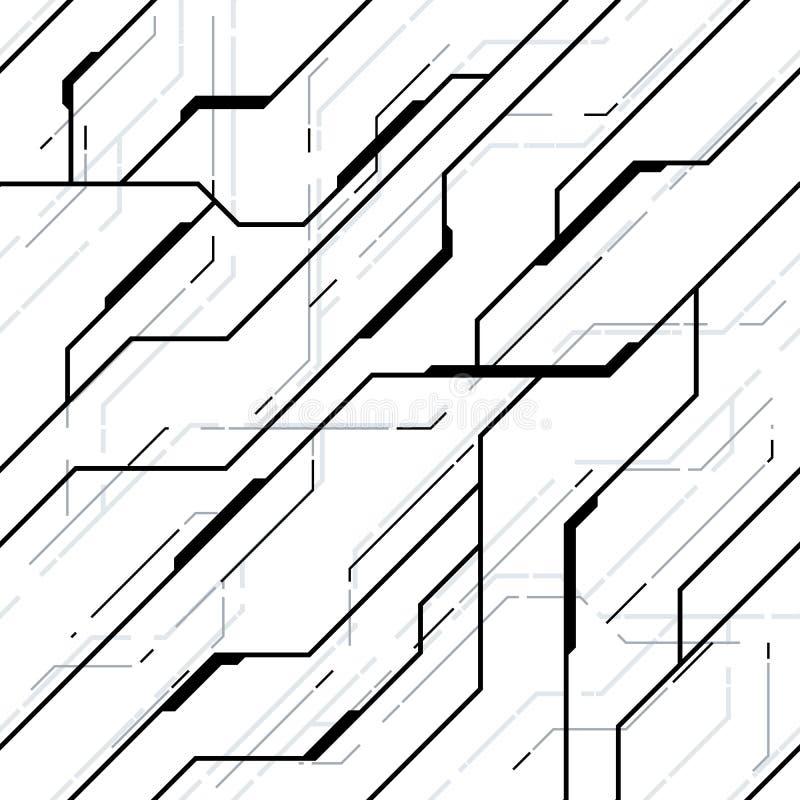 Modell för futuristisk textur för vektor sömlös arkivbilder