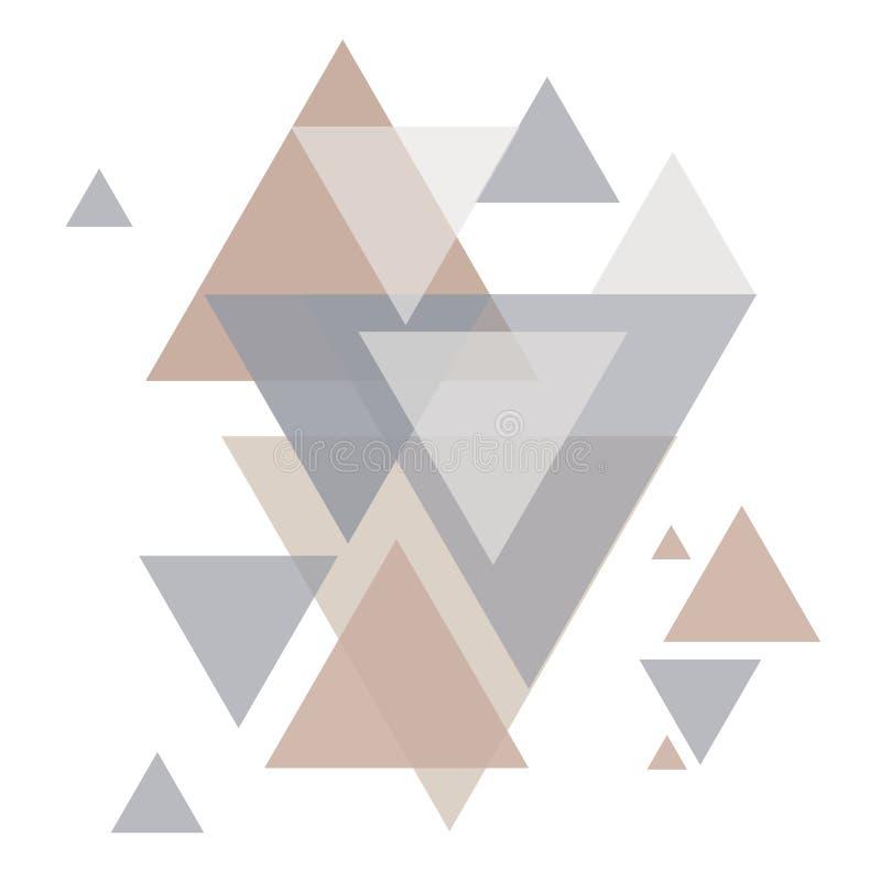 Modell för geometritriangelvektor Etnisk seamless prydnad vektor illustrationer