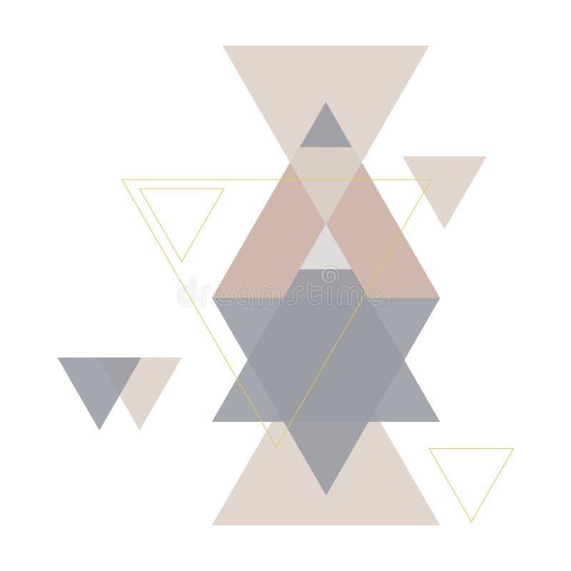 Modell för geometritriangelvektor Etnisk seamless prydnad royaltyfri illustrationer