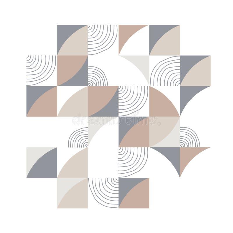 Modell för geometritriangelvektor Etnisk seamless prydnad stock illustrationer