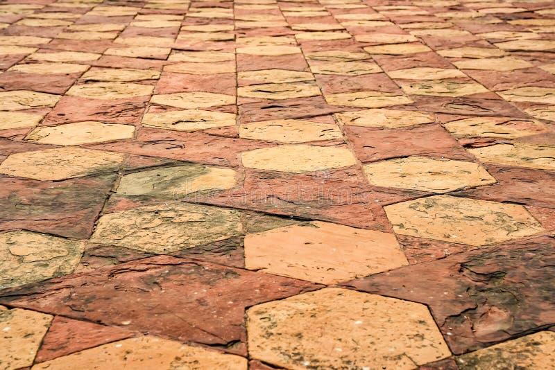 Modell för golvtegelplatta på Taj Mahal i Agra, Indien arkivfoto